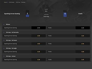 Arcanebet interface example screenshot